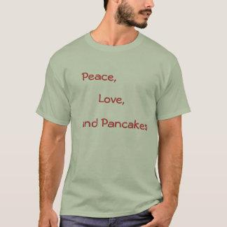 T-shirt Paix, amour, et crêpes