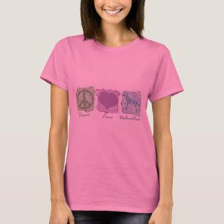 T-shirt Paix, amour, et Dalmates en pastel