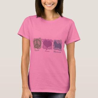 T-shirt Paix, amour, et Havanese en pastel