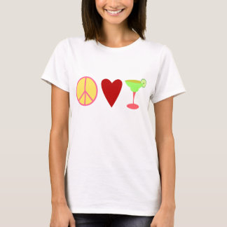 T-shirt Paix, amour, margarita