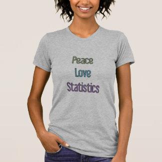 T-shirt Paix, amour, statistiques