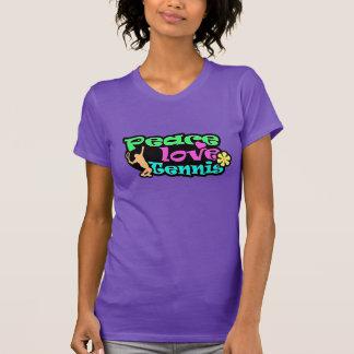 T-shirt Paix, amour, tennis ; Rétro