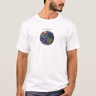 T-shirt Paix du monde d'hommes