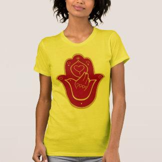 T-shirt Paix et amour Hamsa de henné