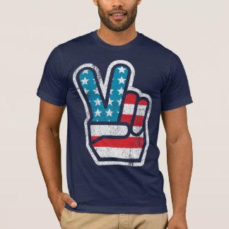 T-shirt Paix pour la chemise de l'Amérique