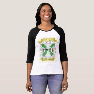T-shirt Palmer/T-shirt blanc de base-ball de la Réunion de