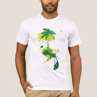 T-shirt Palmier vert