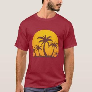 T-shirt Palmiers et Sun