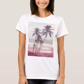 T-shirt palmiers, été, plage svp