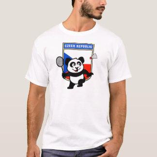 T-shirt Panda de badminton de République Tchèque