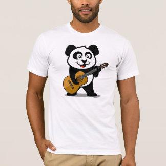 T-shirt Panda de guitare (chemises légères)