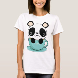 T-shirt Panda de Kawaii dans une tasse de thé