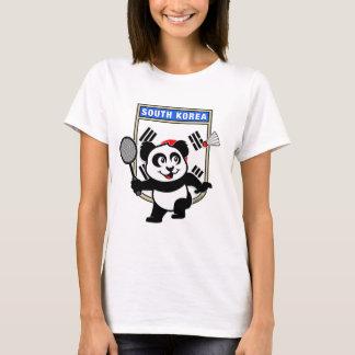 T-shirt Panda de la Corée du Sud de badminton