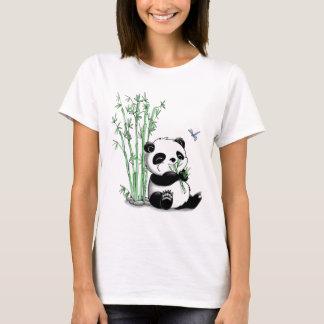 T-shirt Panda mangeant le bambou
