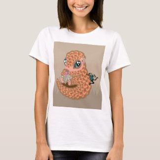 T-shirt Pangolin de bébé avec la fourmi