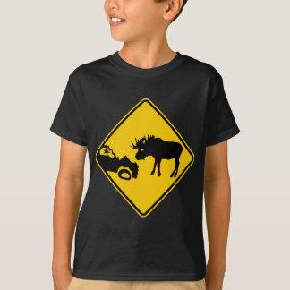 T-shirt Panneau d'avertissement d'orignaux de parc