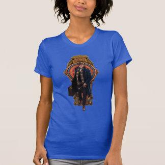 T-shirt Panneau de marche de Nouveau d'art du TRITON