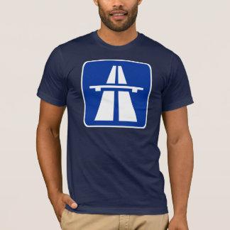 T-shirt Panneau routier allemand d'autoroute