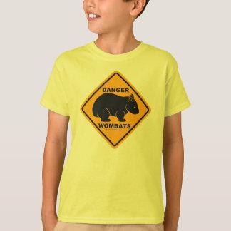 T-shirt Panneau routier de danger de wombat