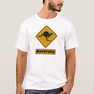 T-shirt Panneau routier de l'Australie - croisement de
