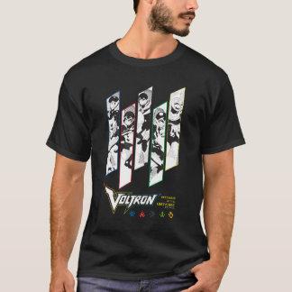 T-shirt Panneaux d'image tramée de pilotes de classique de