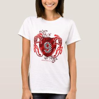 T-shirt panthères de emballage de conception du numéro 9