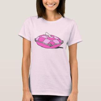 T-shirt Pantoufle de Cendrillon sur l'art rose de cru de
