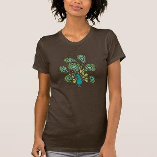 T-shirt Paon de Paisley - plumes de larme