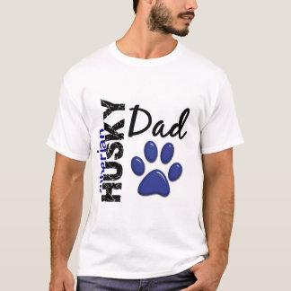T-shirt Papa 2 de chien de traîneau sibérien