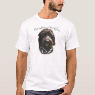 T-shirt Papa 2 de griffon de pointage à poils durs