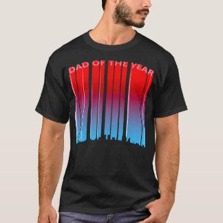 T-shirt Papa 3D épique du gradient d'année