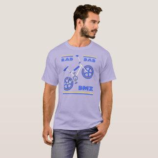T-shirt Papa bleu BMX de rad