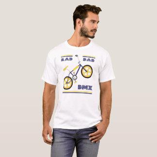 T-shirt Papa bleu/jaune BMX de rad