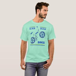 T-shirt Papa BMX de rad de bleu royal