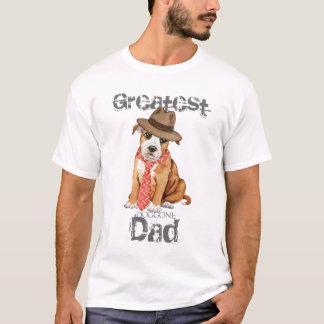 T-shirt Papa de bull-terrier du Staffordshire