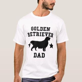 T-shirt Papa de golden retriever