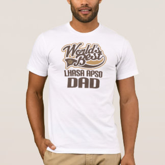T-shirt Papa de Lhasa Apso (mondes meilleurs)