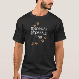 T-shirt Papa de Rhodesian Ridgeback