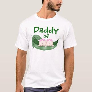 T-shirt Papa des filles jumelles