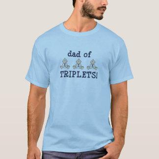 T-shirt Papa des triplets