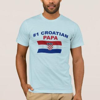 T-shirt Papa du Croate #1