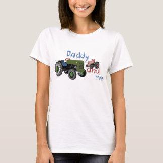 T-shirt Papa et moi tracteurs de fille