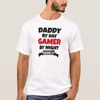 T-shirt Papa par le Gamer de jour par nuit