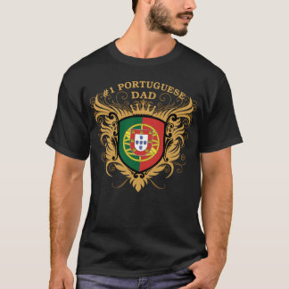 T-shirt Papa portugais du numéro un