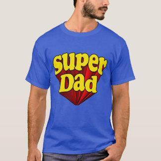 T-shirt Papa superbe, super héros rouge/jaune/fête des