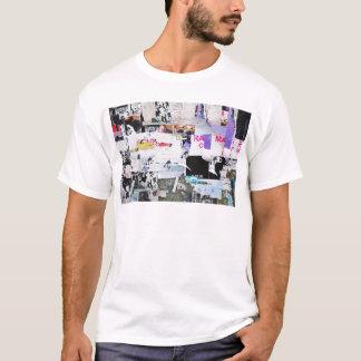 T-shirt Papier déchiré par style de Banksy de mur de