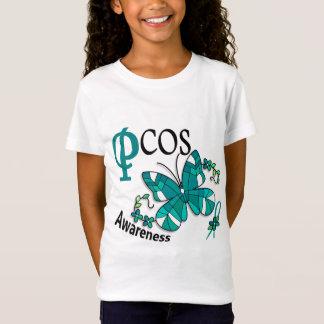 T-Shirt Papillon 2 PCOS en verre souillé