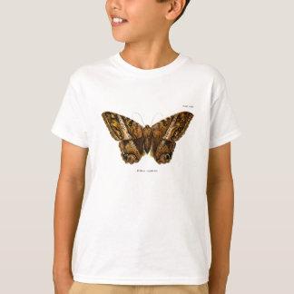 T-shirt Papillon brouillé de modèle de mite de Brown de