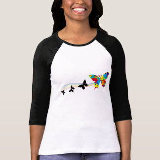 T-shirt papillon d'arc-en-ciel