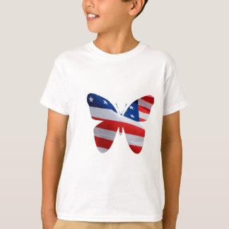 T-shirt papillon de drapeau